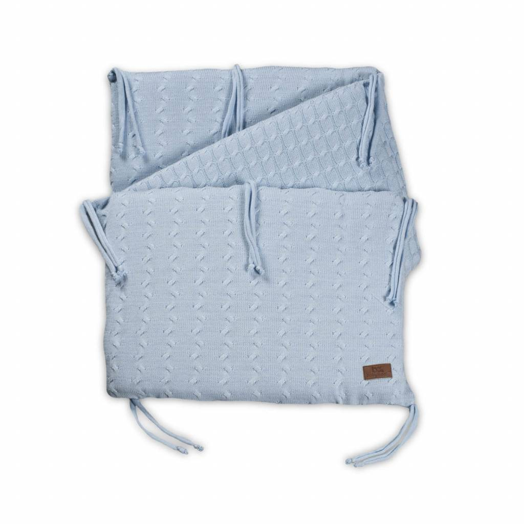 Babys only Baby's only cable baby blauw bedbumper 180x40 cm