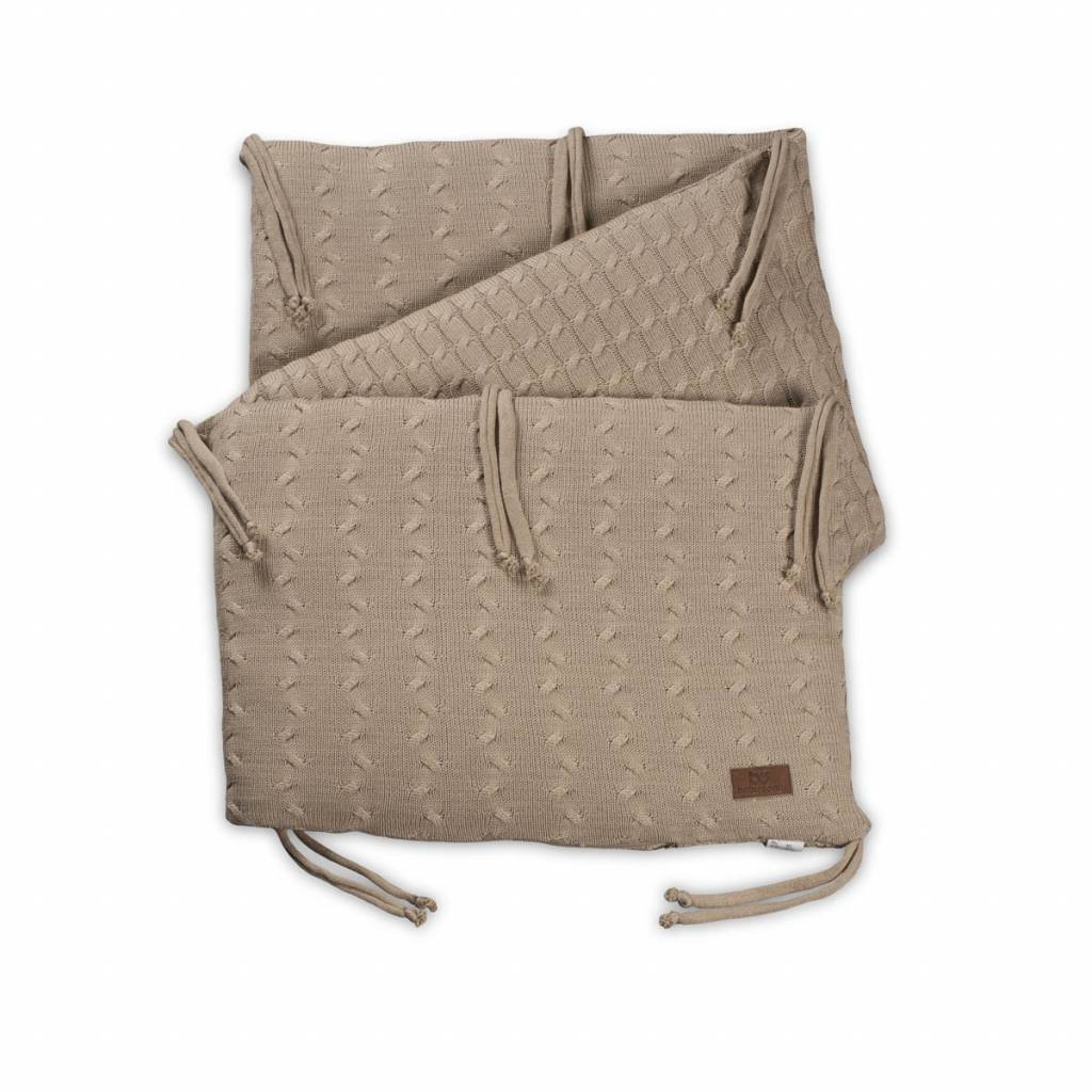 Babys only Baby's only cable beige bedbumper 180x40 cm