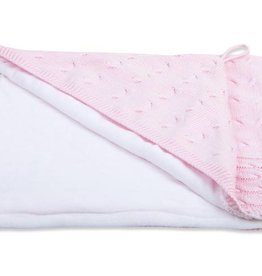 Babys only Babys only Cable chenille baby roze omslagdoek/badcape