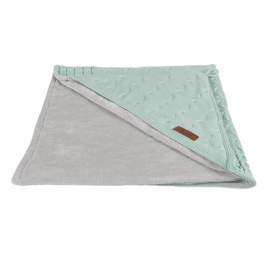 Babys only Babys only Cable chenille mint omslagdoek/badcape