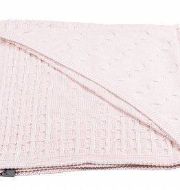 Babys only Baby's only Cable classic roze omslagdoek/badcape