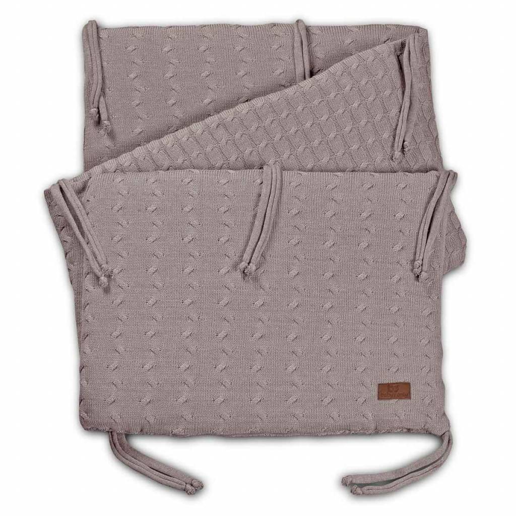 Babys only Baby's only cable taupe bedbumper 180x40 cm