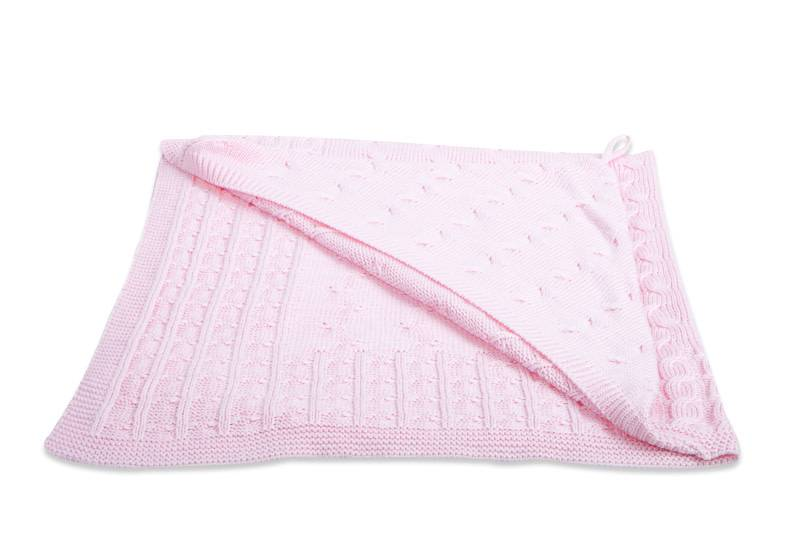 Babys only Baby's only Cable baby roze omslagdoek/badcape