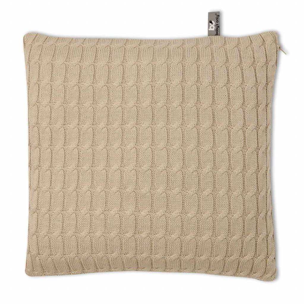 Babys only Baby's only cable kussen 40 beige