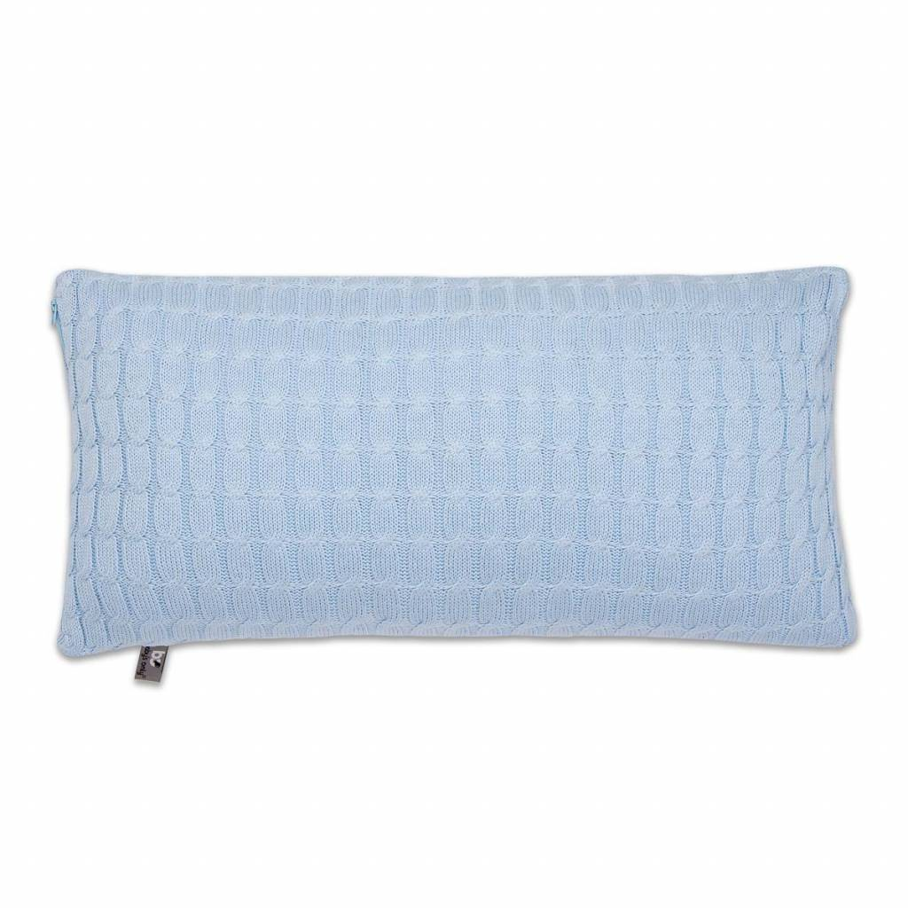Babys only Baby's only cable kussen 60 baby blauw