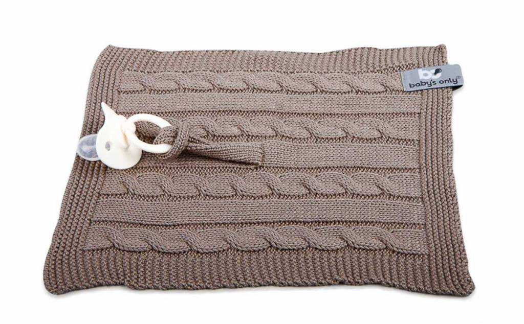 Babys only Baby's only Cable speendoekje taupe