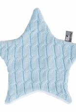 Babys only Baby's only cable knuffeldoekje ster baby blauw