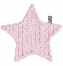 Babys only Baby's only cable knuffeldoekje ster baby roze