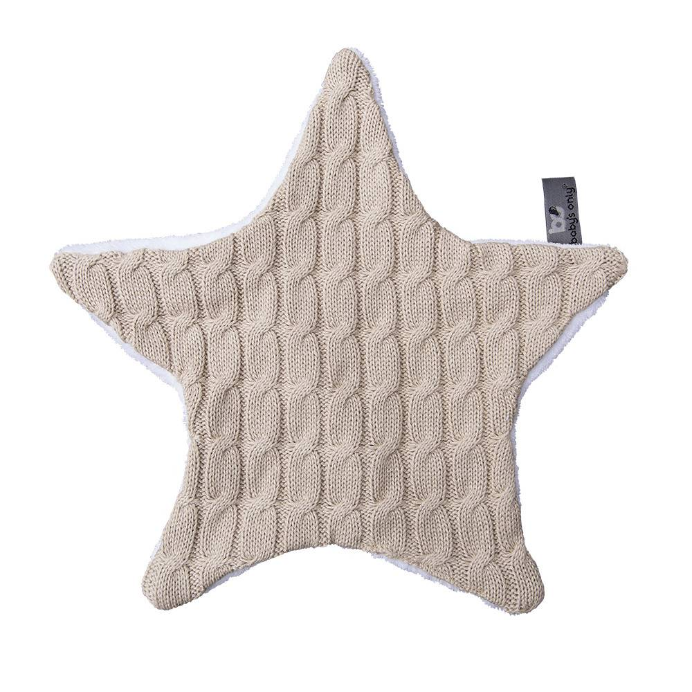 Babys only Baby's only cable knuffeldoekje ster beige