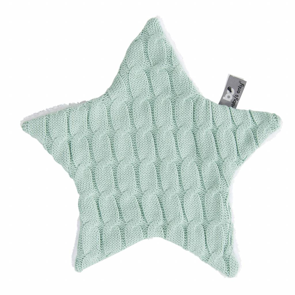 Babys only Baby's only cable knuffeldoekje ster mint