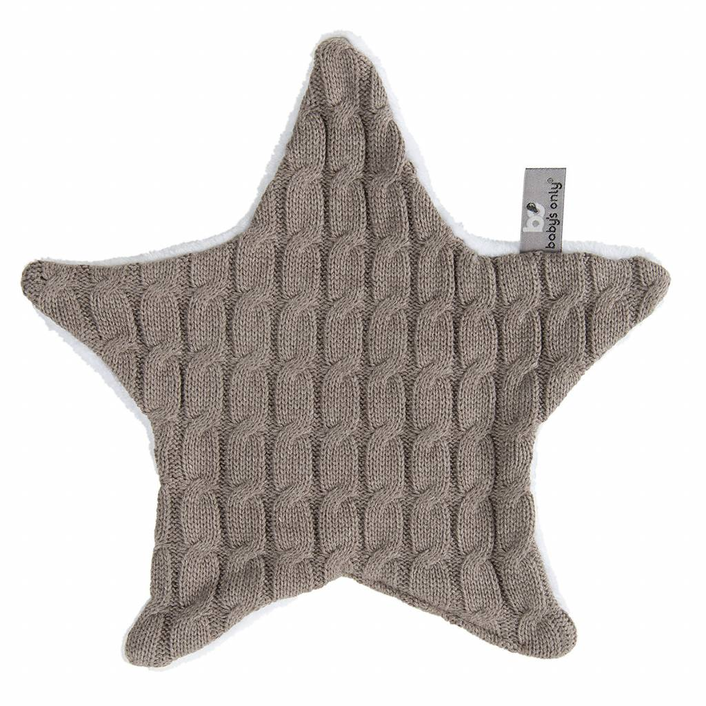 Babys only Baby's only cable knuffeldoekje ster taupe