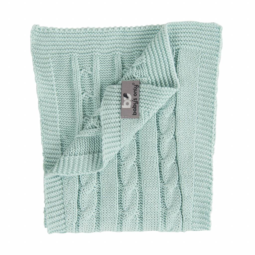 Babys only Baby's only cable spuugdoek mint 50x15