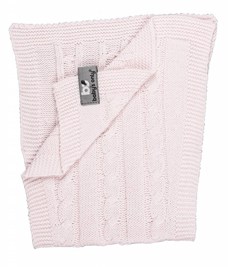 Babys only Baby's only  cable spuugdoek classic roze 50x15 cm