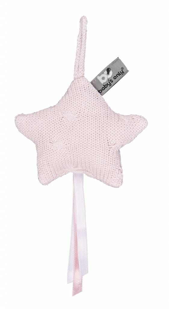 Babys only Baby's only cable decoratiester 14x14cm classic roze