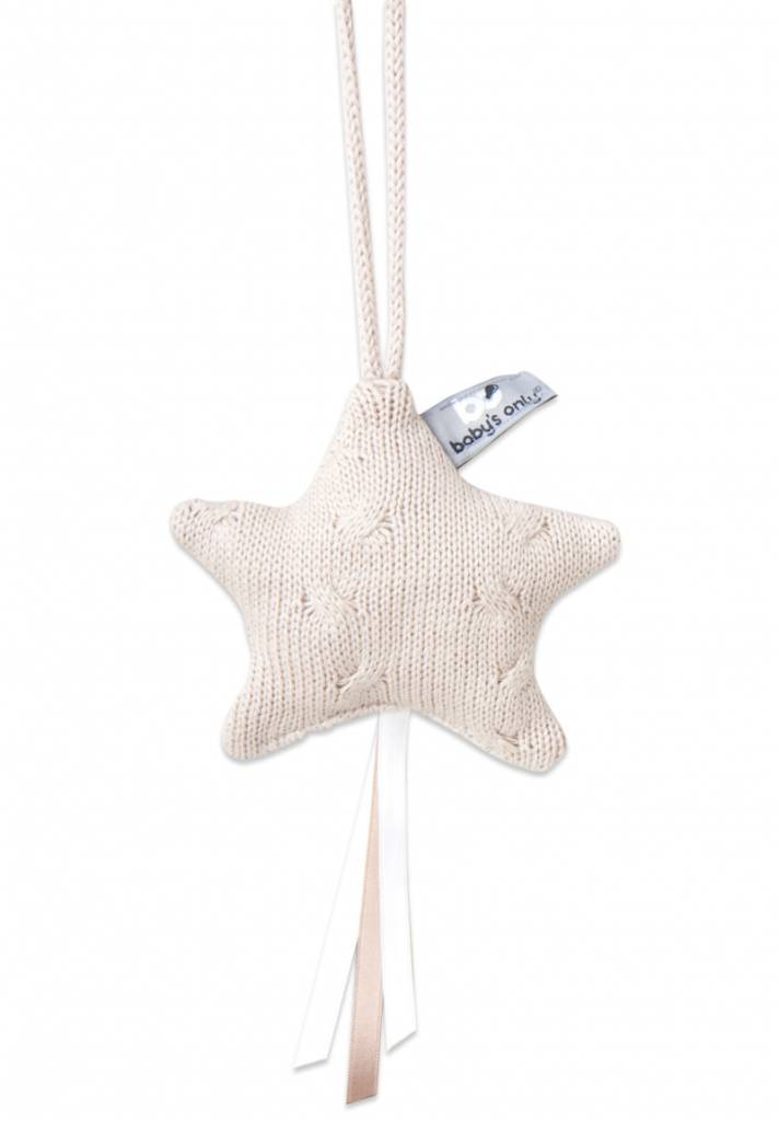 Babys only Baby's only cable decoratiester 14x14cm beige