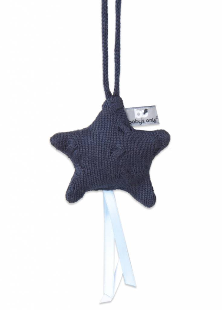 Babys only Baby's only cable decoratiester 14x14cm marine