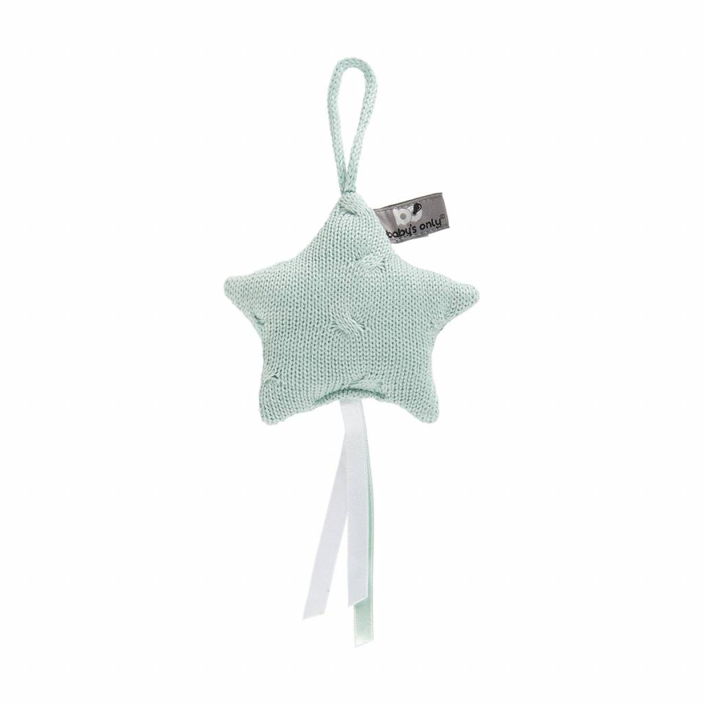 Babys only Baby's only cable decoratiester 14x14cm mint