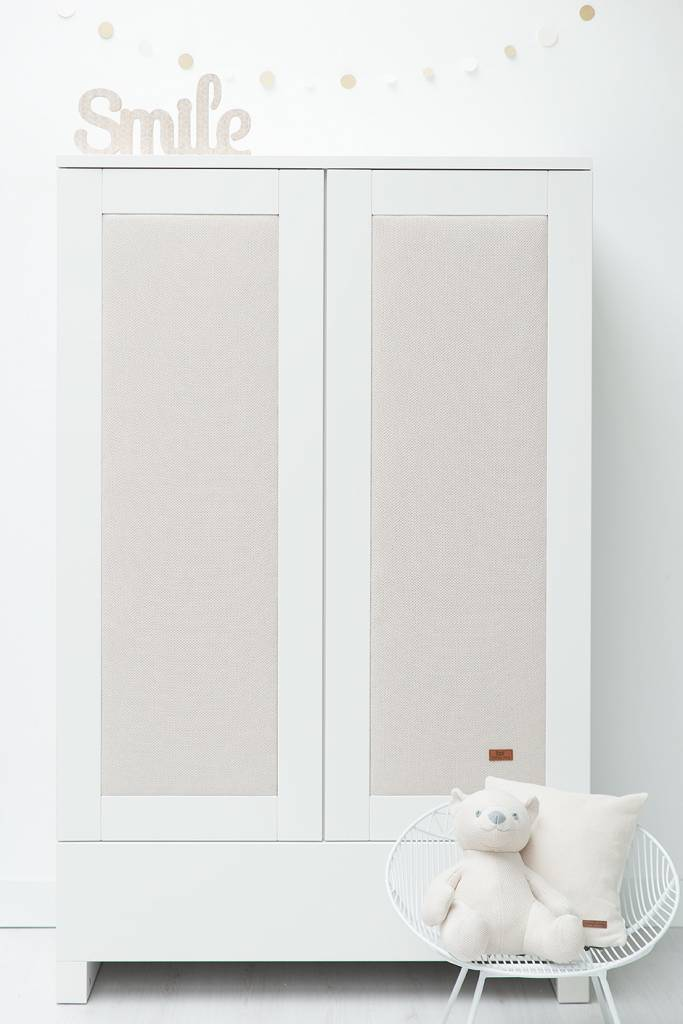 Babys only Baby's only 2 deurskast wit & paneel