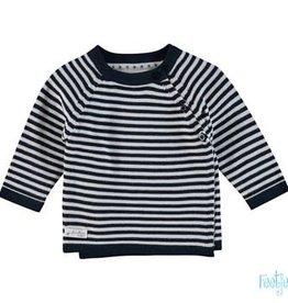 Feetje Feetje 516.00539 First knit truitje blauw /wit streep