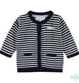 Feetje Feetje 513.00176  First knit  vestje blauw / wit streep