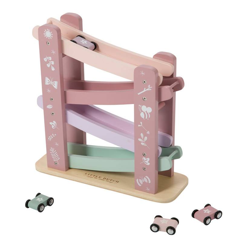 Little Dutch Little Dutch houten autobaan roze