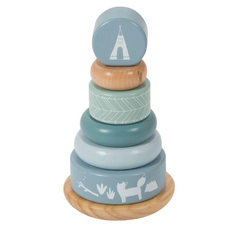 Little Dutch Little Dutch houten tuimelring piramide blue
