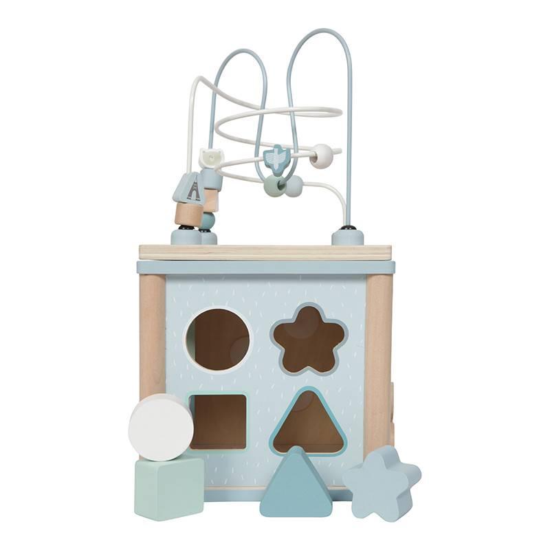 Little Dutch Little Dutch houten activiteiten kubus blauw