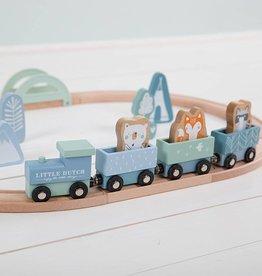 Little Dutch Little Dutch houten treinbaan blauw