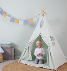 Little Dutch Little Dutch houten Wigwam tent  groen