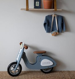 Little Dutch Little Dutch houten Loopscooter blauw