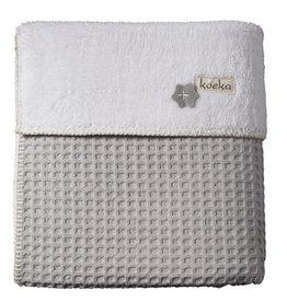 Koeka Koeka Oslo deken wafel teddy kleur silver grey