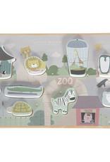 Little Dutch Little Dutch houten puzzel dierentuin mint