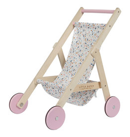 Little Dutch Little Dutch houten poppenbuggy roze