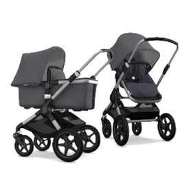Bugaboo Bugaboo Fox compleet aluminiumonderstel gemeleerd grijze stoel/wieg/zonnekap