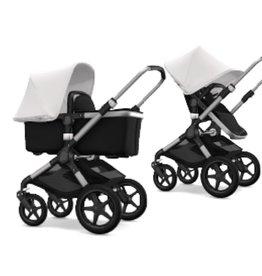 Bugaboo Bugaboo Fox compleet aluminiumonderstel zwart stoel/wieg witte zonnekap