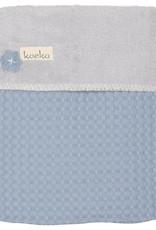 Koeka Koeka Oslo deken wafel teddy kleur soft blue 512