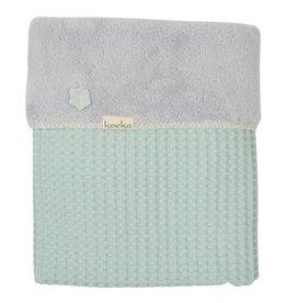 Koeka Koeka Oslo deken wafel teddy kleur misty mint 538