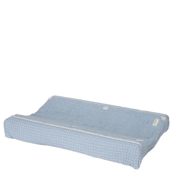 Koeka Koeka Amsterdam aankleedkussenhoes wafel Soft blue 512