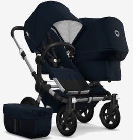 Bugaboo Bugaboo Donkey2 Duo marineblauw bekleding/wieg /zonnekap aluminium onderstel