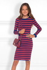 Nik & Nik Nik&Nik jolie  jurk blauw/rood streep S9G