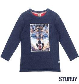 Sturdy Sturdy 716.00346Shirt Marine Pailletten W9B