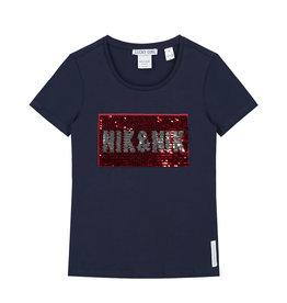 Nik & Nik Nik&Nik shirt Sequins shirt donker blauw G8-083 1904 S19 M