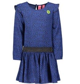 B.Nosy B.Nosy Y908-5821 jurk blauw/panter M19W