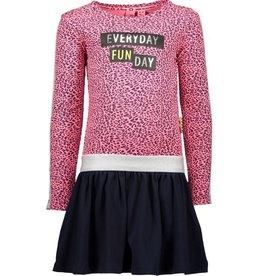 B.Nosy B.Nosy Y908-5822 jurk pink/panter M19W