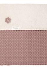 Koeka Koeka Oslo ledikantdeken wafel teddy kleur Plum Pebble