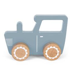 Little Dutch Little Dutch houten traktor blauw