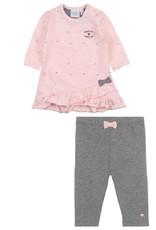 Feetje Feetje 514.00330 jurk+legging 2-delig rose W20G
