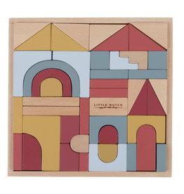 Little Dutch Little Dutch houten blokkendoos 47 delig