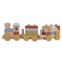 Little Dutch Little Dutch houten blokkentrein FSC