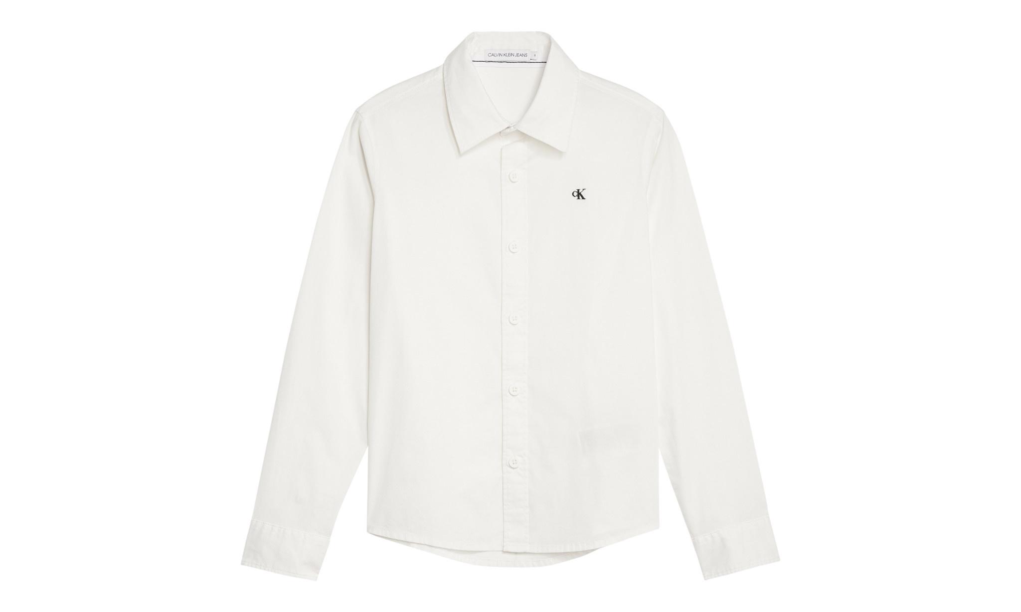 Calvin klein Calvin Klein Poplin shirt Wit IB0IB00366 S20B